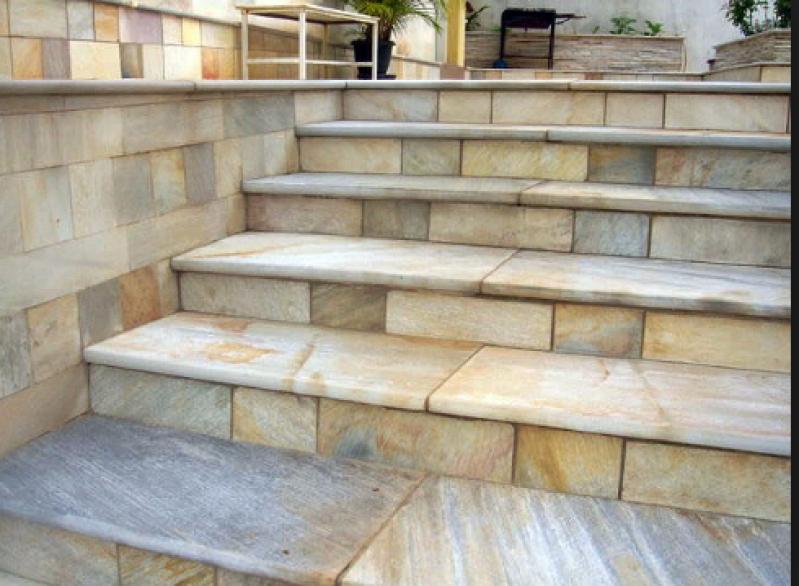 Construção de Escada de Pedra Rústica Jardim São Paulo - Escada de Pedra