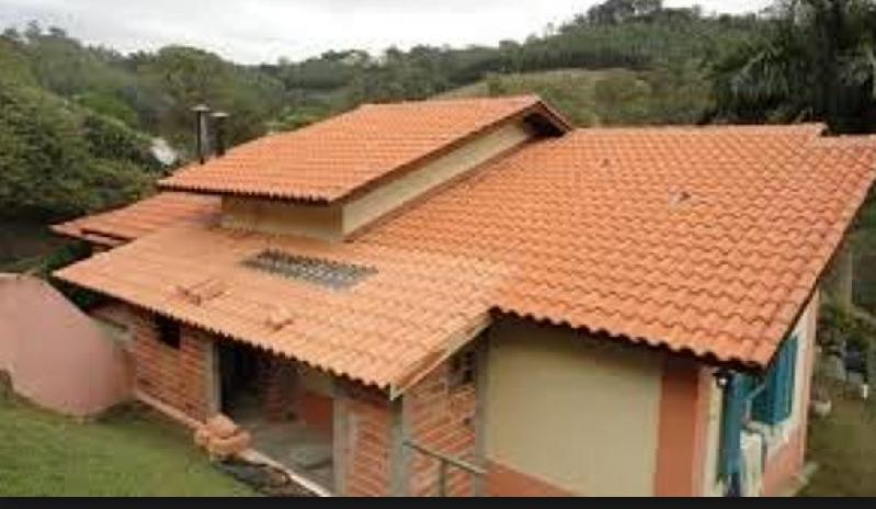 Construção de Telhado Português Bosque Maia - Telhado Italiano