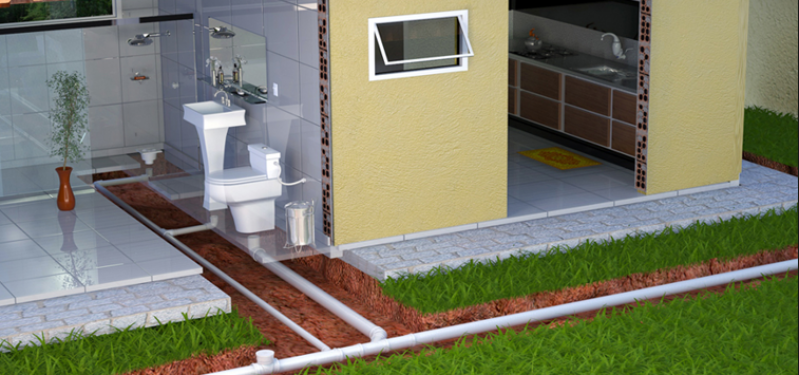 Encanamento água Pluvial Valor Água Azul - Encanamento de Esgoto