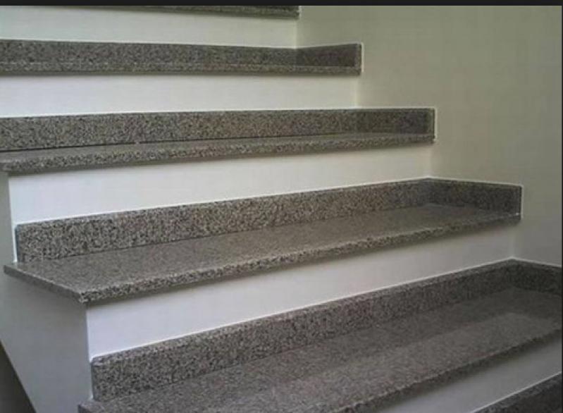 Escada de Pedra Mármore Caieras - Escada Granito