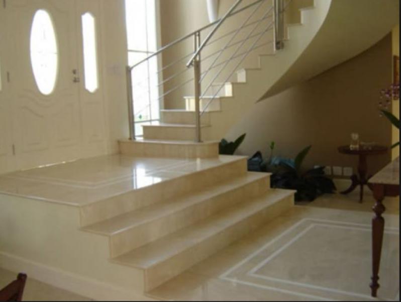 Escada Residencial Granito Casa Verde - Escada de Pedra Mármore