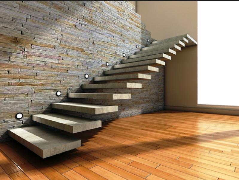 Escadas Edifício Residencial Vila Ristori - Escada de Alvenaria