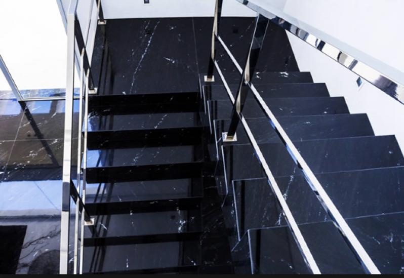 Escadas Granito República - Escada de Pedra Mármore