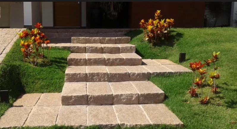 Orçar Escada de Pedra Rústica Água Rasa - Escada de Pedra Rústica