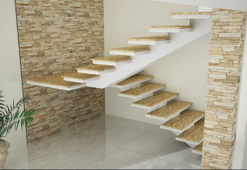 Orçar Escada Entrada Residencial Parque do Chaves - Escada Granito