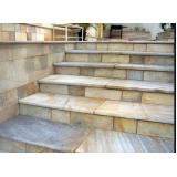 construção de escada de pedra rústica Brás