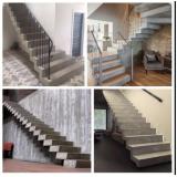 construção de escada edifício residencial Anália Franco