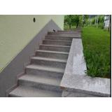 construção de escada exterior Casa Verde
