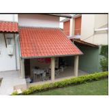 construção de telhado para garagem Chora Menino