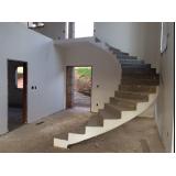 escada entrada residencial Jardim Maria Helena