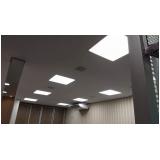 instalação de luminárias em gesso