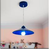instalação de luminárias pendentes