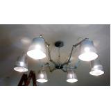 instalação luminária teto