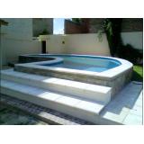 orçamento para construção de piscina elevada Pari