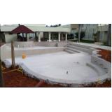orçamento para construção de piscina grande Bosque Maia
