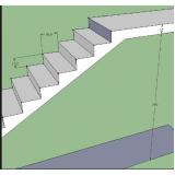 orçamento para escada entrada residencial Serra da Cantareira