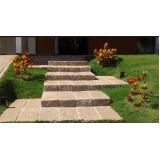 orçar escada de pedra rústica Vila dos Telles