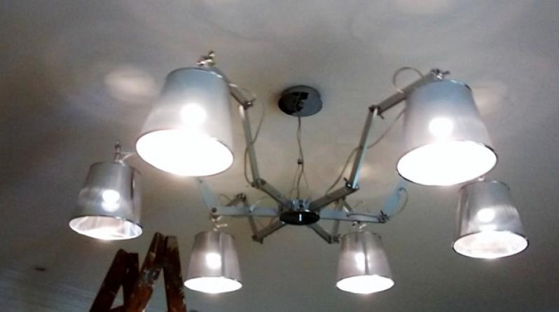 Valor de Instalação Luminária Teto Cachoeirinha - Instalação de Luminária Led